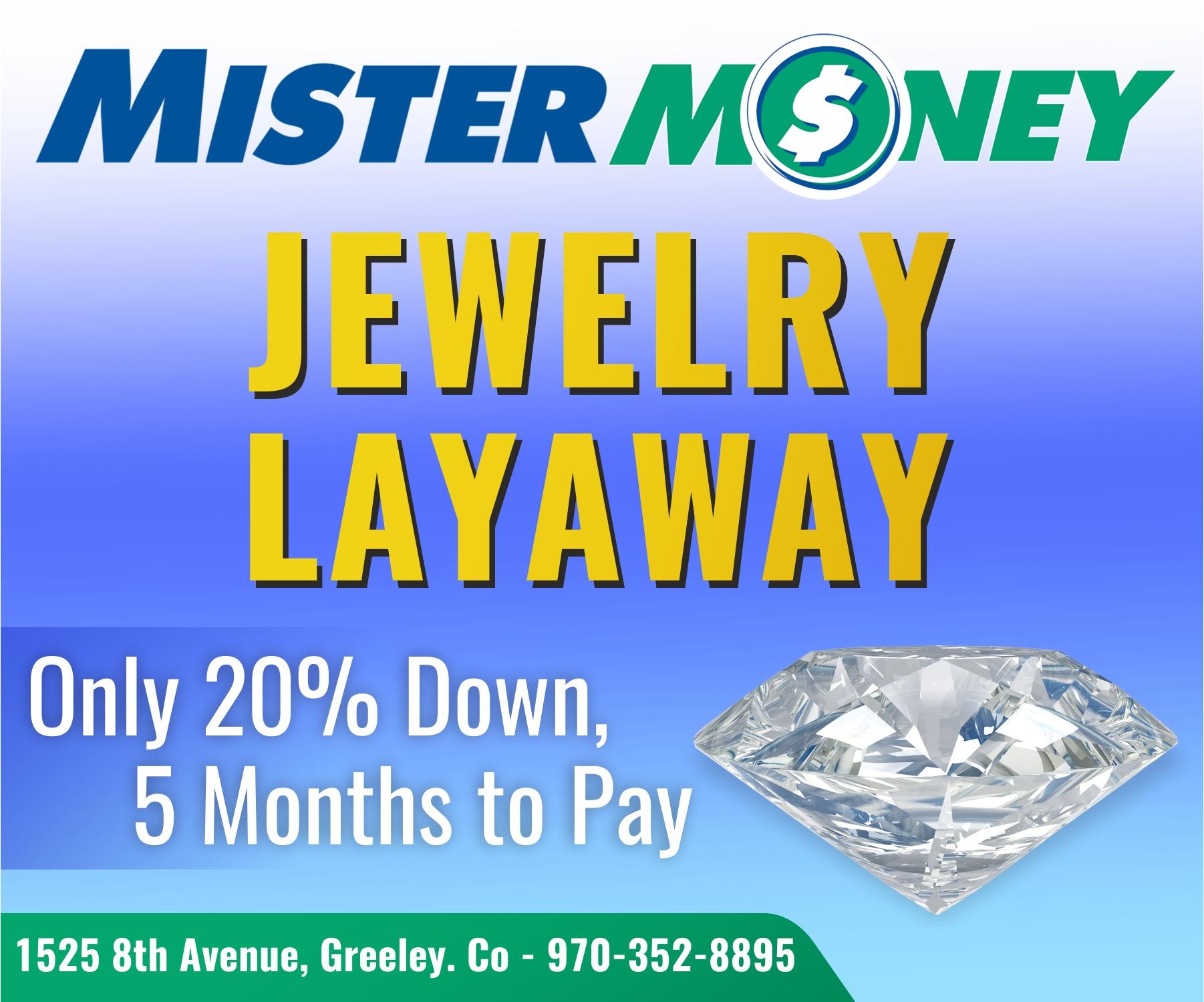 Jewelry Layaway plan notice image